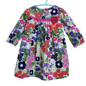 GYMBOREE Long Sleeve Floral Dress 12-18 mths